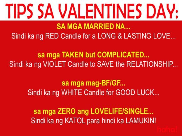 tips sa valentines day